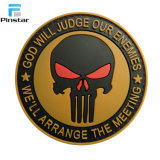 The Punisher personalizado militar moral Soft Patch de PVC de cranio 3D