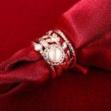 Fijne Juwelen van de Reeksen van de Ring van de manier de Gouden Geplateerde Gecombineerde