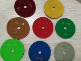 가는 닦는 담황색 디스크 패드 또는 거친 디스크 또는 화강암 또는 대리석 또는 콘크리트