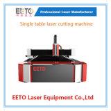 Prix de promotion de machine de découpage simple de laser de fibre de Tableau pour le métal