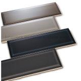 100x300mm simple y diseño de moda de dos tonos brillante Oliva cristal biselado de la pared interior mosaico (HACER-327)