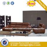 Italia clásica de madera de diseño de mobiliario de oficina oficina de cuero sofá (HX-SN8085)