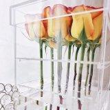 안후이 금 공급자 최상 16 로즈 아크릴 꽃 상자