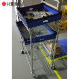 Industrielle Fabrik Storagre 4 Regal-justierbare Chromstahl-Dienstlaufkatze-Karre