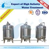 Filtro de Água de carbono activado industrial/Filtro de areia de quartzo/Multimídia para tratamento de água do tanque de filtro