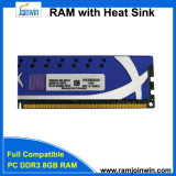 RAM 8GB DDR3 1600 фабрики PC3-12800 Shenzhen с теплоотводом