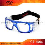 Vidrios protectores de goteo de la ayuda de las marcas de fábrica de la correa del deporte del baloncesto elástico ajustable de encargo del fútbol