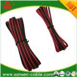 100 pieds 12 de GA de mesure de 2 conducteurs de fil échoué noir rouge de haut-parleur pour l'acoustique de maison de véhicule