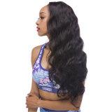 Parrucca piena dei capelli umani del merletto della linea sottile dell'onda naturale del corpo per le donne di colore