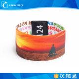 Wristband tejido festival del precio competitivo RFID para el acontecimiento