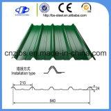 Зеленый цвет гофрированный Ibr кровельных листов металла