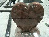 Pietra tombale nera indiana/Moument/Headstone di figura del cuore del granito per il Regno Unito