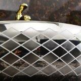 Het sanitaire Bassin van de Was van de Kunst van het Porselein van het Overdrukplaatje van Waren voor Toilet (C1195)