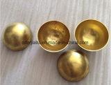 25mm 30mm 40mm dorado pulido espejo o de cobre hueco de la mitad de la bola de acero con un grosor de 0,5 mm