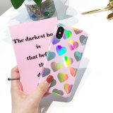 Caixa do arco-íris TPU do amor do laser da tampa de Colorfull para Iphones/7/7plus/X