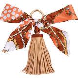 Toebehoren van de Leeswijzer van het Leer van nieuwe Producten Pu de Buitensporige met de Sjaals van de Zijde voor Handtas FT056