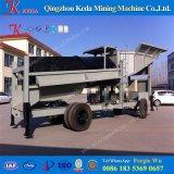 Efficacement petite usine mobile élevée de lavage de trommel d'or
