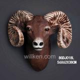 Parede feito-à-medida da fábrica que pendura a decoração creativa da cabeça dos carneiros da resina