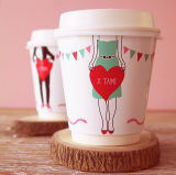 2018 Venta caliente taza de café de papel Papel de pared doble Cup