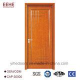 La porte en bois de teck de la Birmanie modèle le polonais en bois de portes de couleurs de peinture