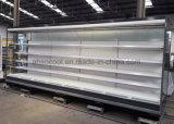 투명한 유리제 끝을%s 가진 12FT 긴 열려있는 정면 냉장된 진열장
