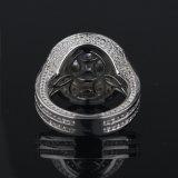 De bevroren uit Echte Zilveren CZ Ring van 925, de Ringen Mjhp020 van Mens Hip Hop