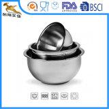 Jogos do Cookware da salada da bacia de mistura do aço inoxidável (CX-B0914)