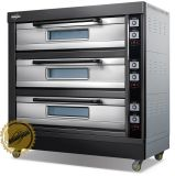 Der neue Art-Gas-Ofen mit schwarzer TitangoldEdelstahl-Serie 2017 für Geschäft (WFC-306DHT)