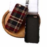 Geval van de Telefoon van de Plaid van de Stijl van de manier het Britse Hybride Zachte Mobiele voor iPhone 7 plus