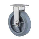 """8 """" en acier inoxydable 304 rigide FIX/roulette avec TPR matériau gris"""