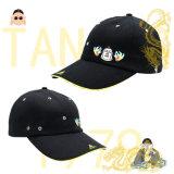 2018熱い販売の綿のあや織り6のパネルの標準的な方法ゴルフ帽