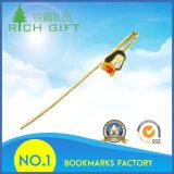 승진 도매 주문 형식 은에 의하여 도금된 3D 금은 선물을%s 주물 금속 로즈 북마크를 정지한다