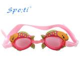 Design de desenhos animados Smimming Silicone Óculos para crianças
