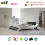 Rei branco moderno Couro Base para a mobília do quarto (HC316)