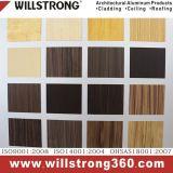 Acabado de madera Panel Compuesto de Aluminio para la decoración de la tienda/placa protectora/firmar/Soporte de pantalla