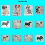 Polyresin Hundeansammlung