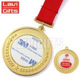 표준 빨간 방아끈을%s 가진 싼 도매 주문 금속 스포츠 회전시키는 메달