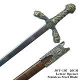 훈장 26cm가 사자 칼 편지 오프너 기사 칼 중세 칼에 의하여 집으로 돌아온다