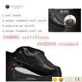Zapatos de seguridad de cuero de trabajo de la punta de acero de los hombres