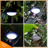 Bewegliche kampierende helle nachladbare LED-Handsolarlampe für das Zelt, das Fischen wandert