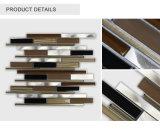 Nuevo vidrio decorativo popular lanzado de la tira/azulejo de mosaico de cristal de aluminio