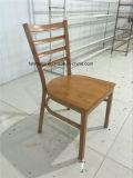 木製のシートまたはファブリッククッションのシートが付いている梯子の背部木の椅子