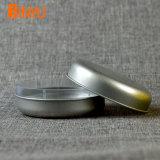 Серебристый круглый небольшой косметический отчет TINS для волос и увлажняющий крем