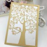 La invitación del grabado del laser carda la tarjeta de felicitación de encargo de la tarjeta del regalo