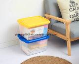 Grand différentes couleurs font largement usage de boîtes de stockage portable en plastique avec poignée