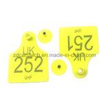 Etiqueta de oído animal de la impresión TPU RFID de la insignia de Lasered de la gerencia de granja