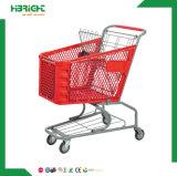 Chariot en plastique pliable en gros aux achats 2016 pour le supermarché