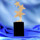 1 место 3 звезд образной металлической трофей кристаллического фундамента премии Grammy фильмов и телевизионных звезд трофей Кубка Лиги Чемпионов награды
