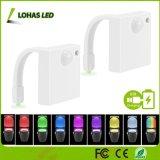 La iluminación de cambio de color recargables USB resistente al agua 1W Wc del sensor de movimiento de la luz de noche