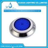 12V calientan la luz subacuática llenada la resina blanca de la piscina del LED